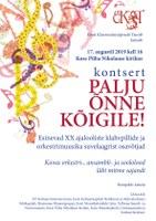 XX ajalooliste klahvpillide, ansambli- ja orkestrimuusika suvelaager  Kosel 14.-17.august 2019