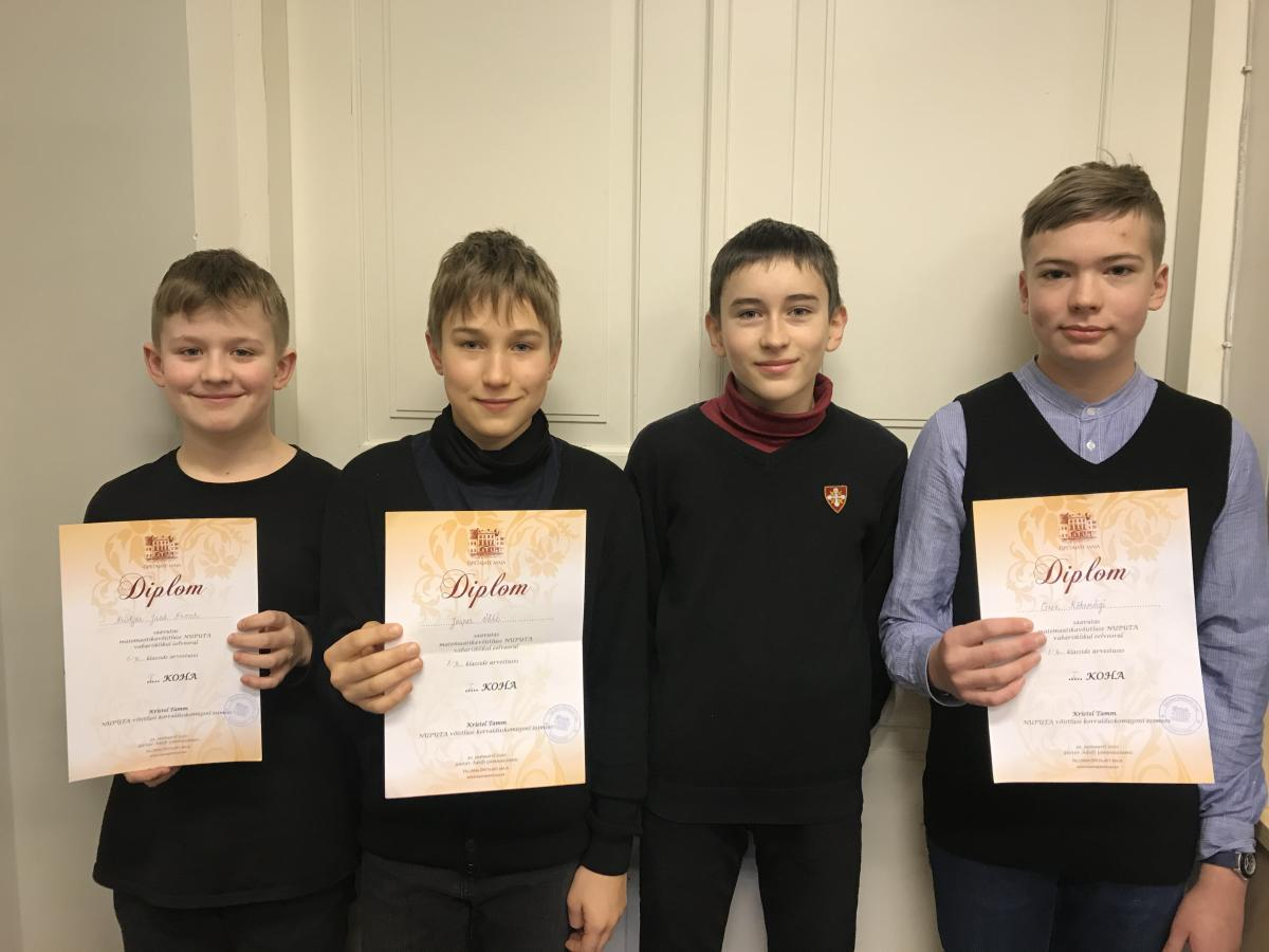 5. ja 6. klasside nuputajad on Tallinna parimad